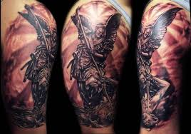 wonderful angel sleeve tattoo for men tattooshunter com