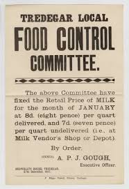 tredegar local food committee poster 27th december 1917