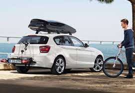 bmw 1 series roof bars bmw accessories for travel and leisure transport