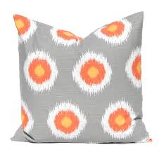 throw pillow covers gray and orange dots fall decor