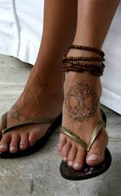 celtic tree of life tattoo on top of foot love it i the