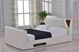 paris 4ft6 double ottoman storage tv bed ivory leaders beds