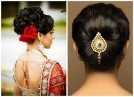 hair accessories for indian brides various indian hairstyle of medium length for weddings