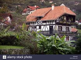 a traditional black forest house of the german colony in the