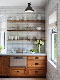 floating kitchen shelves with lights ideas to update oak kitchen cabinets with open or floating shelves