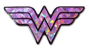 Wonder Woman Accessories Wonder Woman 3d Reflective Pink Domed Decal Decals