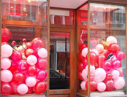 balloon shop milford ct balloon valentines window display balloons diy and cheerful window