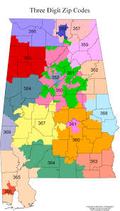 Virginia Area Code Map by Zip Code Map Alabama Zip Code Map