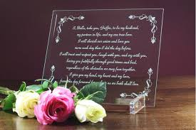 wedding anniversary plaques wedding plaques wedding vows etched in glass