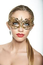 metal masquerade mask gold masquerade mask luxury filigree laser cut metal