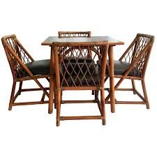 Antique Dining Tables And Chairs 1950s Tommi Parzinger For Willow And Reed Nine Piece Rattan Dining