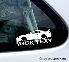 custom toyota supra twin turbo 2x custom your text lowered car stickers toyota supra mk4 twin