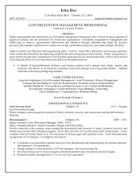 Resume Core Qualifications Examples by Prevention Management Professional Resume