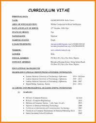 Resume Format For Job Pdf by 4 Latest Cv Format Sample Ledger Paper