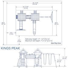 Treasure Trove Floor Plan Amazon Com Backyard Discovery Kings Peak All Cedar Wood Playset