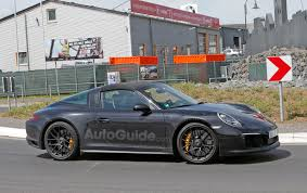 porsche targa 2018 porsche 911 targa gts facelift spotted testing near nurburging