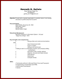first job resume example resume writing with no experience college