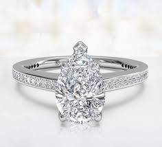 shaped engagement ring pear shaped engagement rings ritani