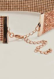 rose choker necklace images Rose gold diamante choker necklace missguided jpg