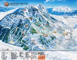 Breckenridge Ski Map Crested Butte Trail Map All Three Colors Plus White
