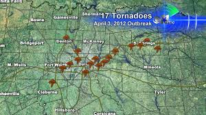 Dallas Ft Worth Airport Map by Look Back At The April 2012 Tornado Outbreak Cbs Dallas Fort Worth