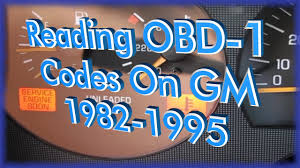 reading obd 1 codes on gm 1982 1995 without code reader youtube