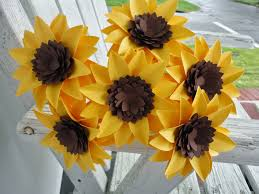 origami sunflower art and craft kids