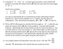 using the z y x alpha beta gamma euler a chegg com