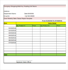 Daily Sales Report Template Excel Free Weekly Activity Report Template 30 Free Word Excel Ppt Pdf