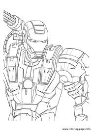 War Machine A4 Avengers Marvel Coloring Pages Printable