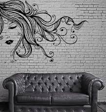 online get cheap long wall murals aliexpress com alibaba group sexy girl vinyl wall stickers face full lips curly long hair wall art mural decal sticker