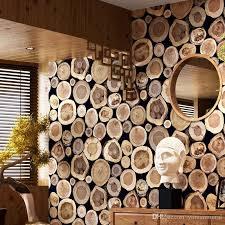 modern thick 3d wood log texture embossed pvc waterproof wall