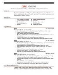 Sample Of Nanny Resume by Nanny Resume Examples Functional Resume It Project Manager