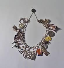 solid silver bracelet charms images Vintage jewellery solid silver charm bracelet 1970s the vintage jpg