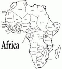 africa map color africa the seven continents