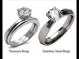 steel titanium rings images Titanium vs stainless steel rings jpg