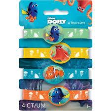 party favor bracelets finding dory rubber bracelet party favors 4ct walmart
