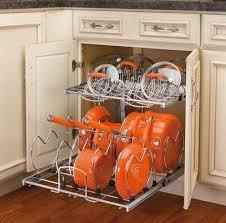 Kitchen Cabinet Pot Organizer Decorating Your Home Design Studio With Good Superb Kitchen