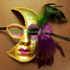 moon mask gras half moon mask