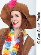 pictures of woman in spanish fancy dress costume csp8771278
