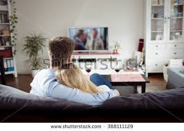 Young Couple Room Back View Young Couple Enjoying Themselves Stock Photo 388111129