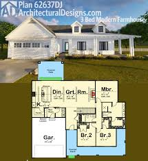 House Plans 1800 Square Feet Plan 62637dj Modern Farmhouse Plan Farmhouse Plans Modern