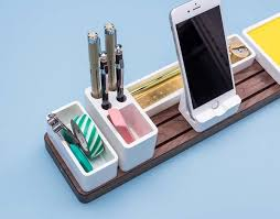 Electronic Desk Organizer Gather Minimal Modular Desk Organizer Gadgetsin