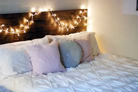 headboard lighting ideas headboards wondrous diy headboard with fairy lights bedding