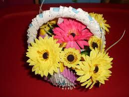 flower basket 3d origami flower basket swans of
