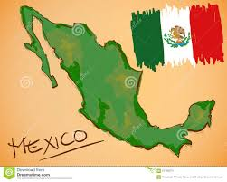 Merida Mexico Map by Mexico Text With Map On Flag Royalty Free Stock Photo Image 5248825