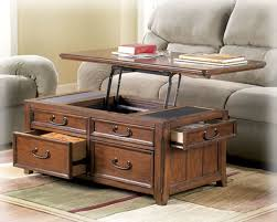 Lift Top Coffee Tables Storage Coffee Table W Lift Top Trunk Flip Up Storage Drawers Wood