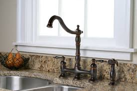 High Rise Kitchen Faucet by Premier Faucet Charlestown Two Handle Bridge Style Kitchen Faucet