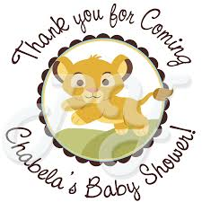 lion baby shower lion king baby shower personalized stickers