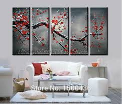 5 piece canvas wall art hand painted palette knife oil hand painted abstract oil yellow flowers paintings on canvas 5 piece